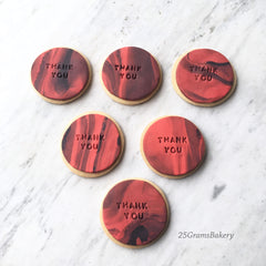 fondant marble message cookie singapore