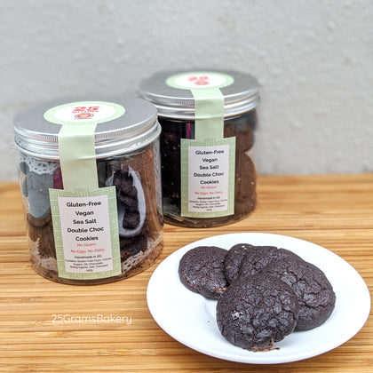 Vegan + Gluten Free Sea Salt Double Choc Cookies * Popular! *