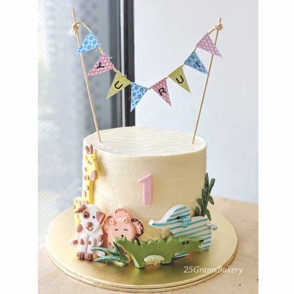 Animal Safari Theme Cake