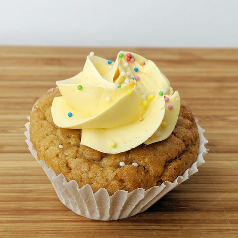 Vegan Mango Brown Sugar Cupcake