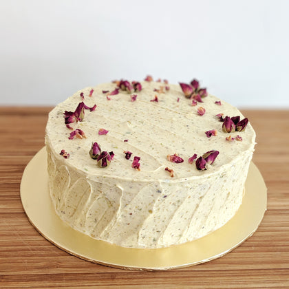 Turkish Delight Vegan Cake (contains nuts)