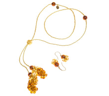 BLISS - Handmade Murano Glass Two Piece Jewelry Gold Set