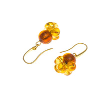 BLISS - Handmade Murano Glass Two Piece Jewelry Gold Earrings