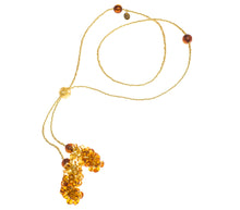 BLISS - Handmade Murano Glass Two Piece Jewelry Gold Necklace