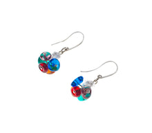 BLISS - Handmade Murano Glass Two Piece Jewelry Multicolor Earrings