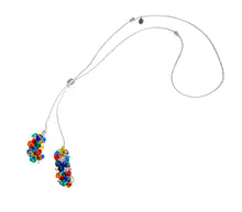 BLISS - Handmade Murano Glass Two Piece Jewelry Multicolor Necklace