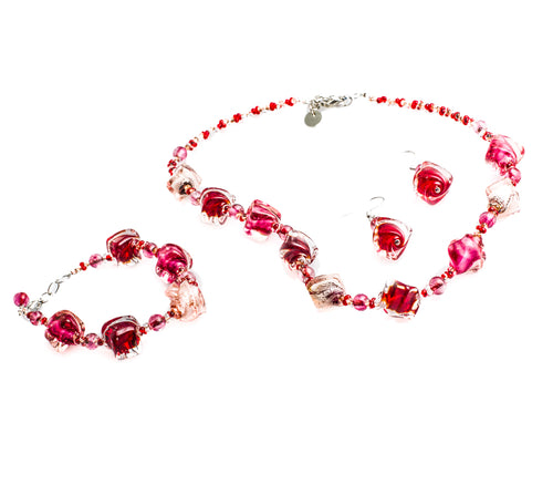 CARMELA - Three Piece Murano Glass Jewelry Set