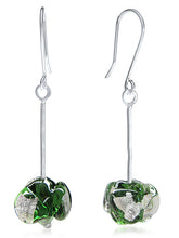 CHANEL - Sterling Silver Murano Glass Two Piece Jewelry Set