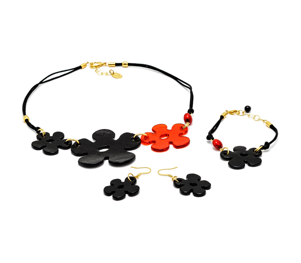 CICONA - Murano Glass Three Piece Jewelry Set