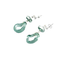 EDINA - Sterling Silver Murano Glass Two Piece Jewelry Set - Earrings