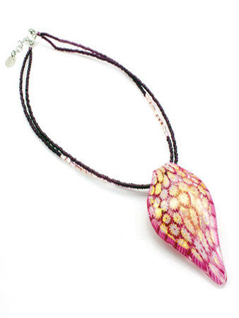 ELESSAR - Murano Glass Leaf Pendant Necklace