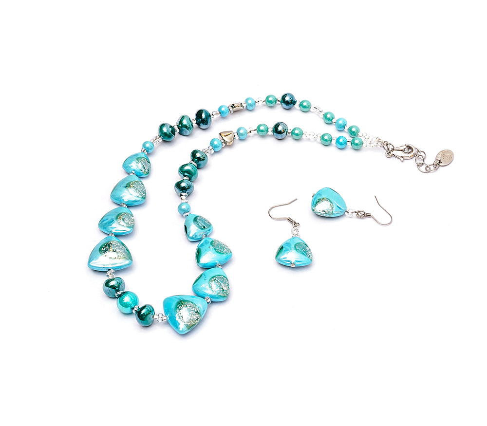 DANIELA - Murano Glass Two-Piece Necklace and Earrings Set