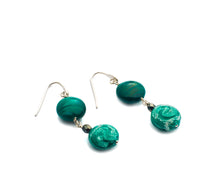 RIVIERA - Murano Glass Earrings in Green