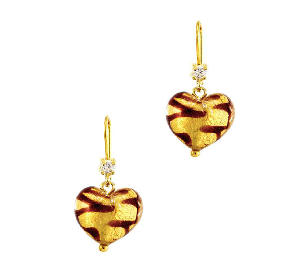 CHERRY - Hand Made Sterling Silver Heart Shaped Earrings