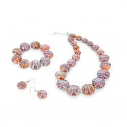 SABRINA - Murano Glass Three Piece Jewelry Set