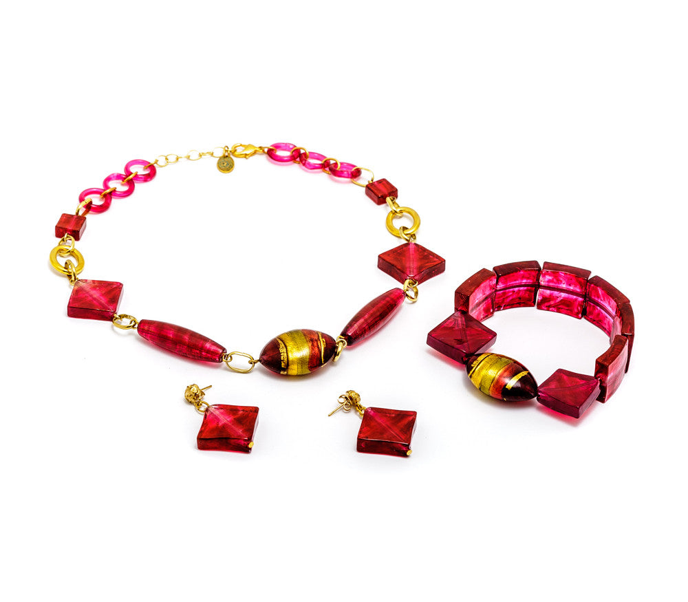 SALMA - Murano Glass Three Piece Jewelry Set