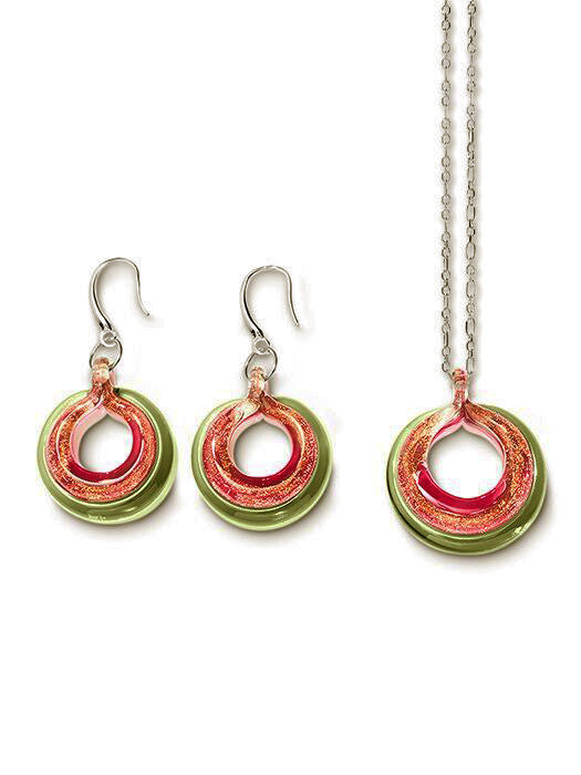 SELINA - Sterling Silver Murano Glass Two Piece Jewelry Set