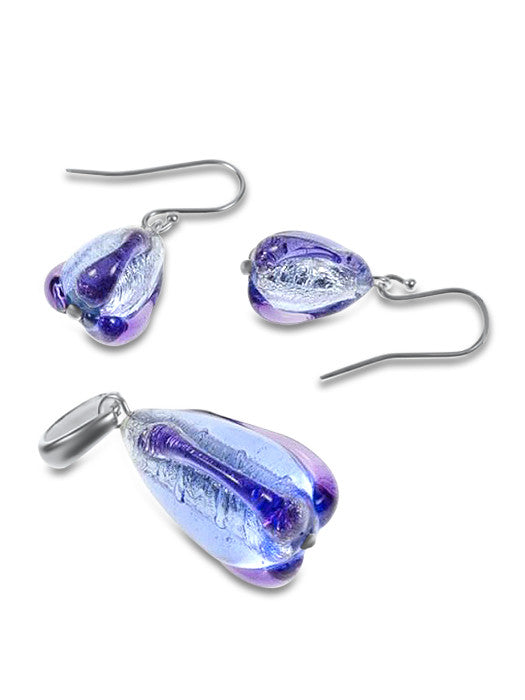 SEPHORA - Sterling Silver Murano Glass Two Piece Jewelry Set