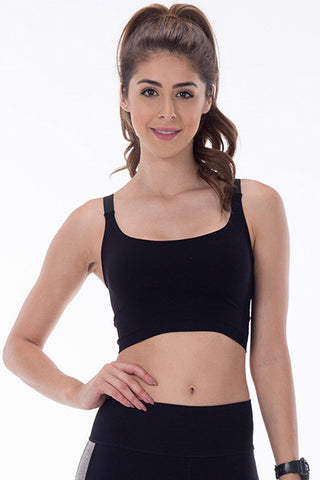 z- Double Layer Elastic Back Bra Top