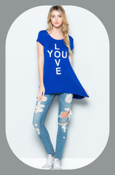 "Graphic ""Love you"" Top"