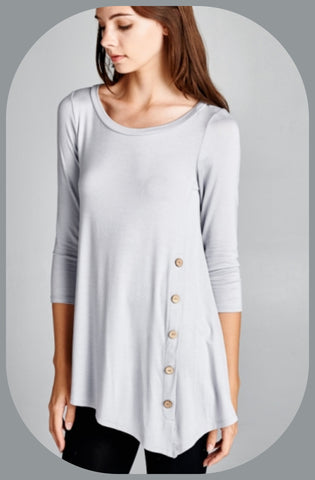 Front Button Tunic Top