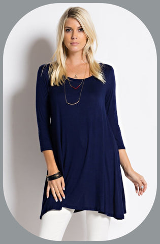 Long Sleeve Color Tunic