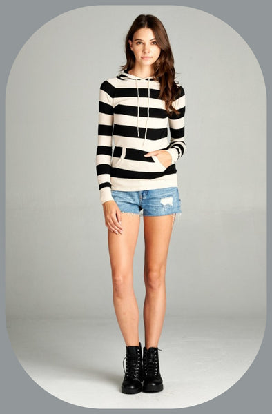 Striped Sweater Hoodie