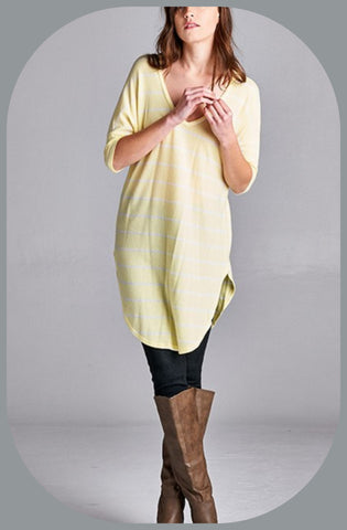 Striped High Sided Tunic