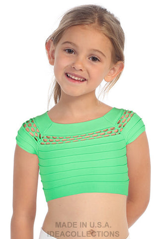 z - mesh detail crop top