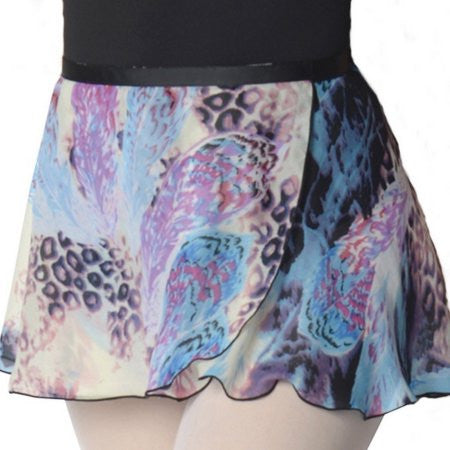 z - Danshuz Blue Feather Print Ballet Skirt