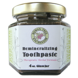 Organic Remineralizing Toothpaste: Therapeutic Herbal Formula, 1.5oz, 2oz or 4oz in glass jar