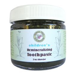 Organic Children's Remineralizing Toothpaste: Mild Sweet Orange Herbal Formula (1.5oz in Glass Jar)