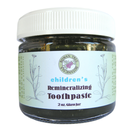 Organic Children's Remineralizing Toothpaste: Mild Sweet Orange Herbal Formula (2oz in Glass Jar)