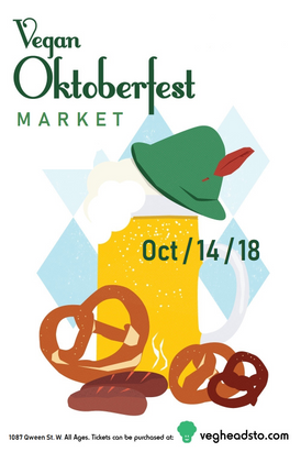 Vegan Oktoberfest 2018 - Vendor - 10' x 20' Booth