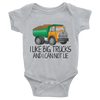 I Like Big Trucks And I Can Not Lie Onesie  [T-Shirt] awesomethreadz