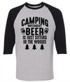 Camping Without Beer Is Just Sitting In The Woods  [T-Shirt] awesomethreadz