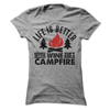 Life Is Better With Wine And A Campfire T Shirt - awesomethreadz
