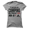 I'd Rather Be Camping And Drinking Wine  [T-Shirt] awesomethreadz