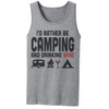 I'd Rather Be Camping And Drinking Wine T Shirt - awesomethreadz