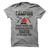 Camping Where Friends and Marshmallows Get Toasted Together T Shirt - awesomethreadz