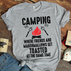 Camping Where Friends And Marshmallows Get Toasted At The Same Time Coffee Mug T Shirt - awesomethreadz
