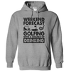 Weekend Forecast Golfing With A Chance Of Drinking T Shirt - awesomethreadz