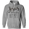 Jesus Loves This Hot Mess  [T-Shirt] awesomethreadz