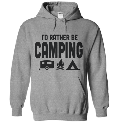 I'd Rather Be Camping  [T-Shirt] awesomethreadz