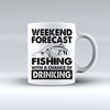 Weekend Forecast Fishing With A Chance Of Drinking Coffee Mug   - awesomethreadz