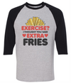 Exercise I Thought You Said Extra Fries  [T-Shirt] awesomethreadz