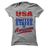 USA United States Of Awesome  [T-Shirt] awesomethreadz