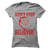 Don't Stop Believin In Santa  [T-Shirt] awesomethreadz