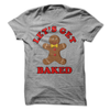 Lets Get Baked Gingerbread Man T Shirt - awesomethreadz