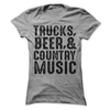Trucks Beer And Country Music   awesomethreadz